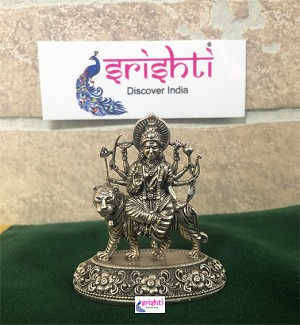 SSSD-Pure Silver Antique Durga Idol (STUJ12)