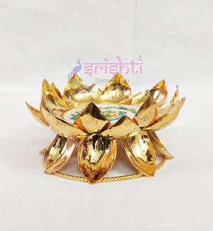 SSSD-Gold Coated Silver Lotus Stand (SJ056)