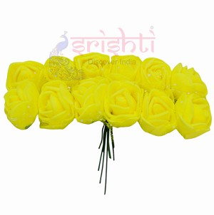 SCSA-Artificial Rose String-Yellow (SACS0005-Y)