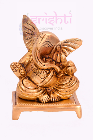 Brass Ganesha with Laddu-SBB193