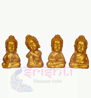 Buddha Set of 4 (Gold) 2.5 Inches-STC006