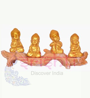 Tree Buddha (Set of 4) 5.5 Inches-STC010