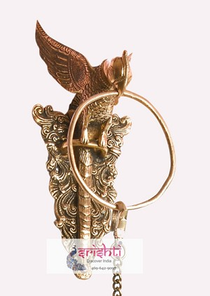 Brass Parrot Hanging With Ring 7 Inches-SBB045